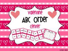 A Million Little Hearts - Valentine ABC Order Center