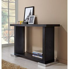 Mirage Black Finish Sofa Table | Overstock.com Shopping - The Best Deals on Coffee, Sofa & End Tables $225.99