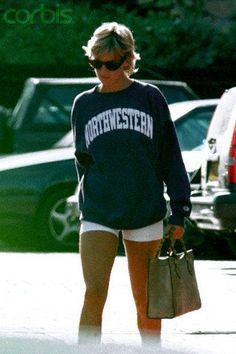 Princess Diana Fashion, Charles And Diana, Diane, Lady Diana Spencer, Princess Of Wales, Looks Style, 90s Fashion, Sportswear, Sweatshirts