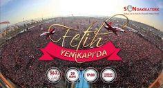 Halk, Fetih Şöleni için Yenikapı'da