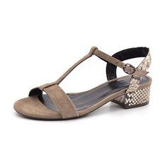 Billi Bi sandal m. hæl beige snake