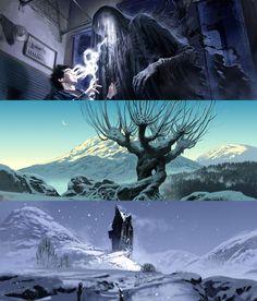 Harry Potter Film Concept Art by Adam Brockbank (x)