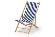 Cabana Beach Chair, Blue/White Stripe on OneKingsLane.com