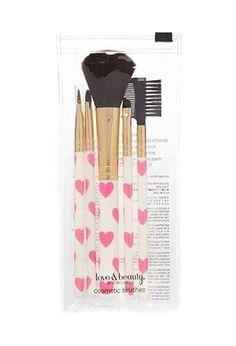 Heart print brush set | theglitterguide.com