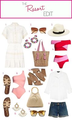 beach vacation packing list, what to pack for the beach, resort wear, how to pack for a beach getaway What to pack for your next beach vacation! I'm rounding up the must-pack items in this easy resort-wear guide. Use as a tropical getaway checklist! Beach Vacation Packing List, Summer Vacation Outfits, Beach Vacation Clothes, Beach Outfits, Vacation Checklist, Outfit Beach, Yoga Outfits, Beach Attire, Beach Vacations