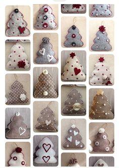 1 to 10 Handmade Felt Christmas Tree Ornaments of your choice | Etsy Handmade Christmas Tree, Handmade Christmas Decorations, Felt Christmas Ornaments, Diy Ornaments, Beaded Ornaments, Glass Ornaments, Christmas Coasters, Felt Decorations, Christmas Sewing