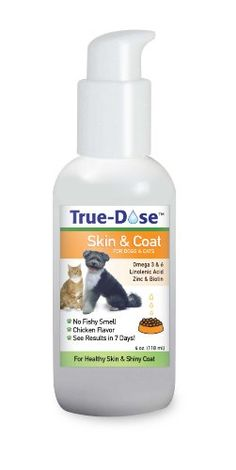 TrueDose Skin and Coat Supplement Chicken Flavor 4Ounce *** Click image for more details. (Note:Amazon affiliate link) #DogGrooming