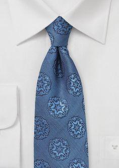Indigo Blue Designer Silk Tie | Bows-N-Ties.com