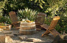 upcycled wine barrels
