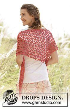 Crochet Women's Star Pattern Summer Shawl Wool by Silkwithasizzle