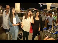 WATCH Sridevi with her family at Mumbai Airport leaving for IIFA Awards 2015.  See the full video at : http://youtu.be/FJ8BNMpdJ-s #sridevi #bollywoodnewsvilla #bollywood