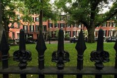 Beacon Hill sightseeing could include Louisburg Square brownstones.