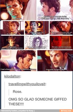 Doctor Who Funny, Doctor Who 10, 10th Doctor, Rose And The Doctor, I Am The Doctor, Rose Tyler, Torchwood, Film Serie, David Tennant