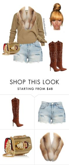 """""""Untitled #1773"""" by stylesbynickey ❤ liked on Polyvore featuring BLANKNYC, Christian Louboutin and Chanel"""