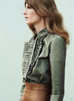 Earth toned leather goodness // Photo by Julia Noni for Vogue Germany