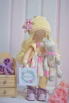 Купить Кукла. Фея с Единорогом. - бежевый, кукла ручной работы, кукла в подарок, кукла интерьерная
