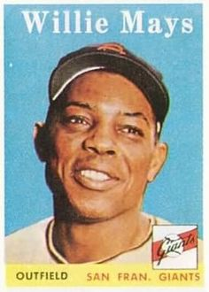1958 Topps #5 Willie Mays Front