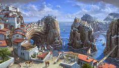 Steffen Sommer Concept Art: Concept Art 2D Concept art Fantasy city Fantasy places