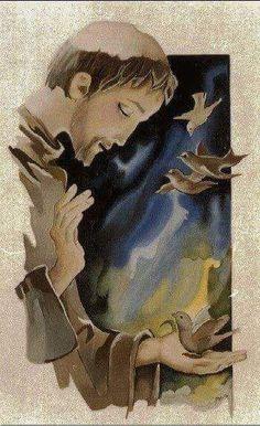 Francis of Assisi Catholic Art, Catholic Saints, Religious Images, Religious Art, Religion, Ora Et Labora, St Francisco, St Clare's, Francis Of Assisi