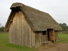 Thatched Medieval house - most medieval homes were cold, damp, and dark. Many…