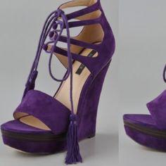Rachel Zoe suede wedges Rachel Zoe suede wedges. Never worn! Rachel Zoe Shoes Wedges