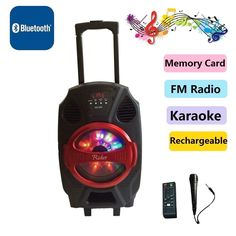 """Rider 8""""Amplified woofer Portable/Rechargeable Tailgate Speaker/Bluetooth/USB/SD #Rider"""