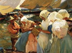 Joaquin Sorolla y Bastida, Selling the Catch at Valencia, 1903, Oil on canvas, 93 x 126 cm, Diputación Provincial, Valencia