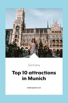 Munich is the largest city in Germany, and has a lot to offer. If you plan to visit it, you should know which are the 10 best attractions in Munich! Cities In Germany, Visit Germany, Germany Travel, Germany Europe, Munich Germany, Backpacking Europe, Europe Travel Guide, Travel Guides, Travel Destinations