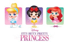 https://flic.kr/p/98kSjF | Kawaii Princess Concepts | Character concepts - Itty Bitty Pretty Princess.  Kawaii/chibi versions of the Disney Princess'