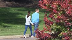 Canberra turned on its autumn best for the royal couple, strolling the Yarralumla grounds
