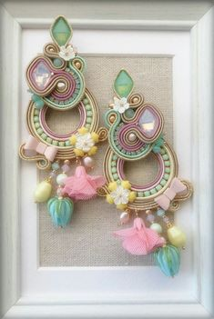 Diy And Crafts, Arts And Crafts, Art Crafts, Shibori, Textile Jewelry, Beaded Jewelry, Soutache Earrings, Jewelry Making, Jewels