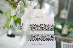 Colour Themed Wedding Invitations: Black & White   Wedding Invitations Ideas
