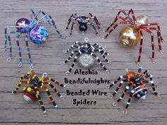 Free Tutorial - DIY Beaded Spiders featured in Bead-Patterns.com Newsletter!