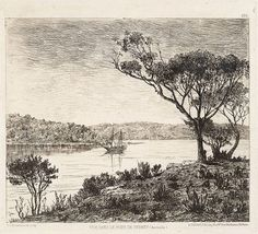 A view of Sydney Harbour, by E. Order Of Draw, Fresh Image, Artist Signatures, British Museum, Colour Images, Historical Photos, Large Prints, Black Backgrounds, Illustrators