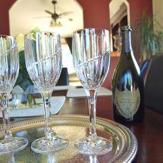 Vintage Beautiful Lead Crystal Goblets/Wine Glasses - Set of 6 - by HouseofLucien, $68.00