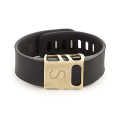 My latest obsession: brass CHISEL slide for Fitbit Charge and Charge HR on bytten.com