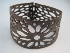Bicycle inner tube cuff bracelet by becktesch on Etsy, $20.00