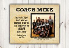 Thank You for Basketball Coach_8 X 10 Print with Team Photo