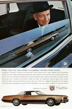 1968 Cadillac Fleetwood Eldorado ad | Flickr - Photo Sharing!