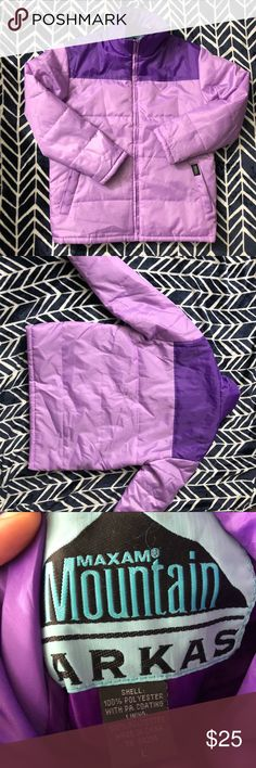 """Maxam Purple parka like new! Woman's size large purple maxam mountain purple parka jacket. Like new condition. The chest measures 22 1/2"""" flat across, the underarm sleeve length is 19"""" and this is 29"""" long. maxam Jackets & Coats Puffers"""