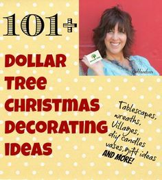 101+ Dollar tree Christmas decorating ideas. I know it is early, but give your creative minds a head start!