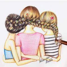 Pin by Kamile Uogintaite on Besties  Pinterest  Bff Drawings