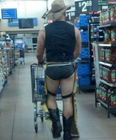 Wal-mart....Is he tryin to bring sexy back? O-o