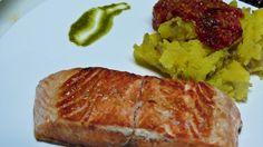 Filete de Atún con puré de Batatas de @guardavinas