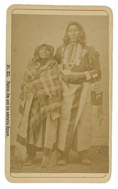 Paiute Jim and wife - Paiute - circa 1870