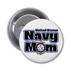 Navy Mom United States Great Lakes Button #Navy #Mom #GreatLakes #Button #Pin