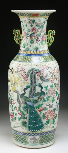 Lot: A Massive Chinese Antique Famille Rose Porcelain Vase, Lot Number: 0274, Starting Bid: $150, Auctioneer: Elegance Gallery & Auctioneers, Auction: Asian Art, Antiques And Estate Sales - ES1406, Date: June 8th, 2014 CST