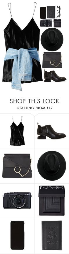 """""""Untitled #2797"""" by wtf-towear ❤ liked on Polyvore featuring T By Alexander Wang, Alexander Wang, Chloé, NARS Cosmetics, Boston Traveler and J.Crew"""