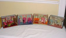 Vintage Marx Newlywed Tin Doll House 4 Rooms 20 Pc Furniture Set 1920's Litho