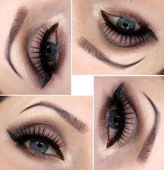 BROWNY Smoky #brokat #eyes  #eyemakeup  - bellashoot.com